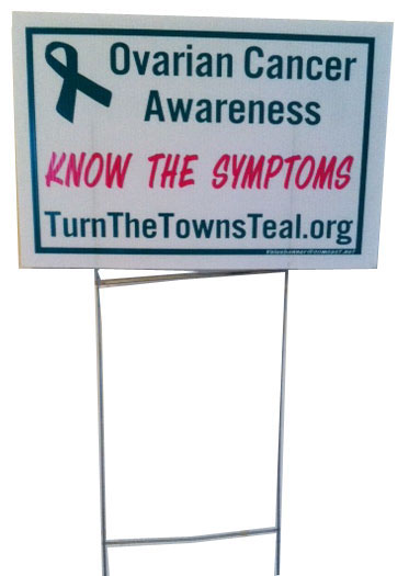 Turn the Towns Teal Lawn Sign