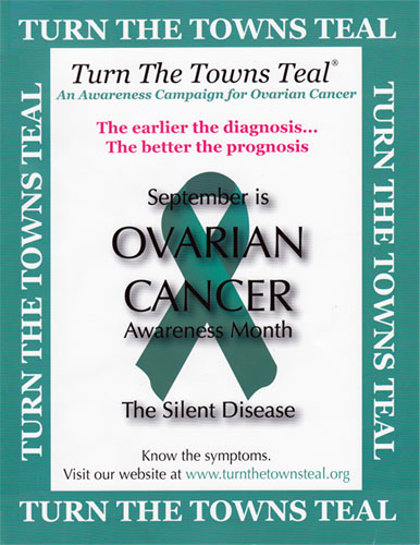 Turn the Towns Teal Poster