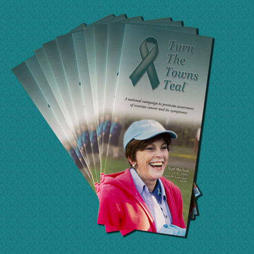 Turn the Towns Teal Brochures