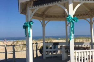Sea Girt New Jersey Beach Gazebo Treal Ribbons