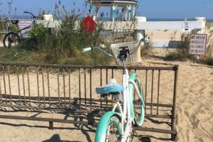 Sea Girt New Jersey Beach Gazebo Treal Ribbons Teal Bicycle