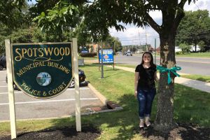 Spotswood New Jersey Woman Tree Teal Ribbon