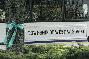 West Windsor New Jersey Ribbon On Tree Bus